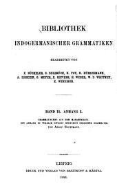 Grammatisches aus dem Mahabharata: ein anhang zu William Dwight Whitney's Indischer grammatik