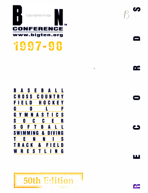 Big Ten Conference Records Book PDF