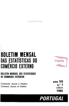 Boletim mensal das estat  sticas do com  rcio externo PDF