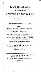 Ad Lucilium Epistolae morales: Epist. xc - cxxiv