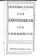 Instructions for Confession and Communion