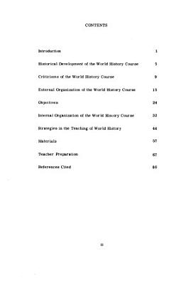 The Status of World History Instruction in American Secondary Schools PDF