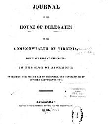 Journal Of The House Of Delegates Of The Commonwealth Of Virginia Book PDF