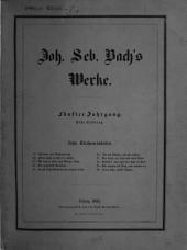 Johann Sebastian Bach's Werke: Kirchencantaten, Dritter Band. 5,1