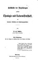 Geschichte der Beziehungen zwischen Theologie und Naturwissenschaft0 PDF