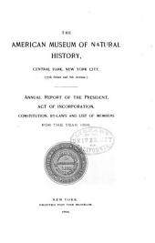 Annual Report of the American Museum of Natural History for the Year