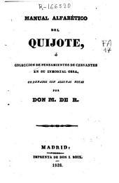 Manual alfabético del Quijote: ó colección de pensamientos de Cervantes en su inmortal obra
