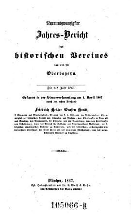 Jahresbericht des Historischen Vereines von Oberbayern PDF