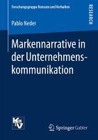 Markennarrative in der Unternehmenskommunikation PDF
