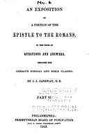 Exposition of a Portion of the Epistle to the Romans PDF