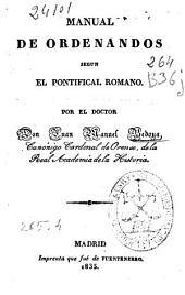 Manual de ordenandos segun el Pontifical romano