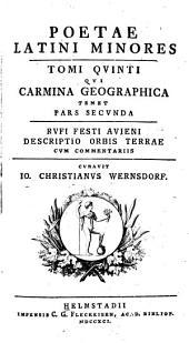 Poetae Latini minores: Volume 5, Parts 2-3