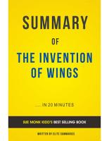 The Invention of Wings  by Sue Monk Kidd   Summary   Analysis PDF