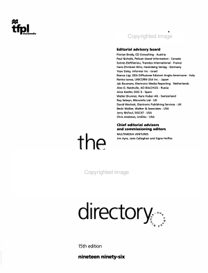 The CD ROM Directory 1996 PDF