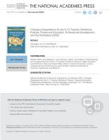 Changing Expectations for the K 12 Teacher Workforce PDF
