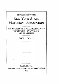 Proceedings of the New York State Historical Association with the Quarterly Journal PDF