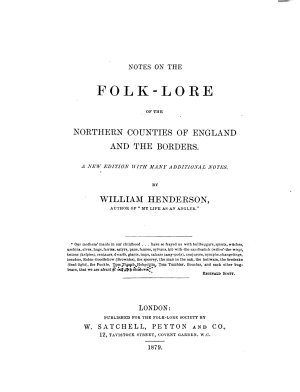 Notes on the Folk lore of the Northern Counties of England and the Borders PDF
