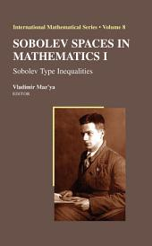 Sobolev Spaces in Mathematics I: Sobolev Type Inequalities, Volume 1