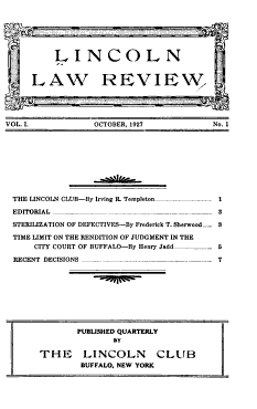 Lincoln Law Review PDF