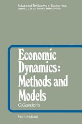 Economic Dynamics: Methods and Models