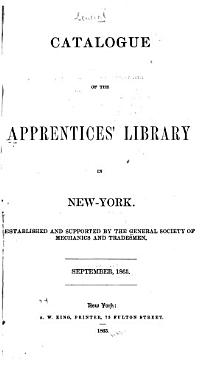 Catalogue of the Apprentices  Library in New York PDF