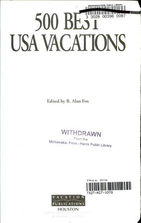 500 Best USA Vacations PDF