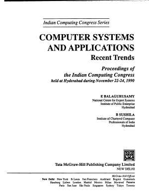 Computer Systems and Applications PDF