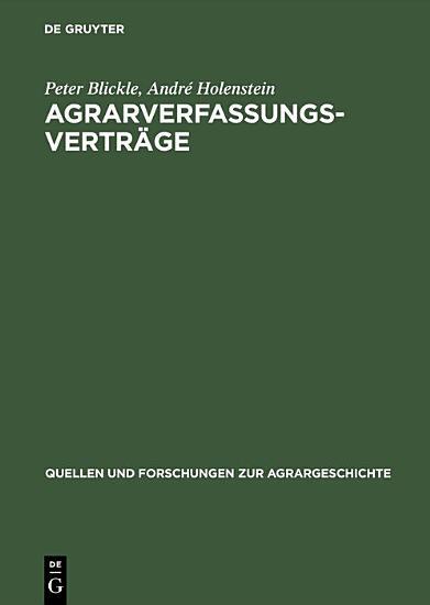 Agrarverfassungsvertr  ge PDF