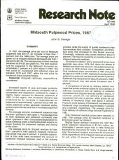 Midsouth pulpwood prices, 1987