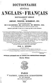 Dictionnaire général anglais-français: nouv. rédigé d'après Johnson, Webster, Richardson, etc. ...