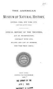 The ... Annual Report of the American Museum of Natural History: Volumes 20-25