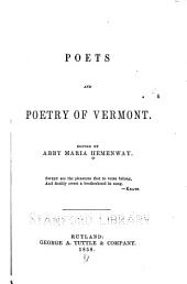 Poets and Poetry of Vermont: Edited by Abby Maria Hemenway ...