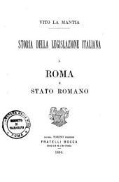 Storia della legislazione italiana: Volume 1