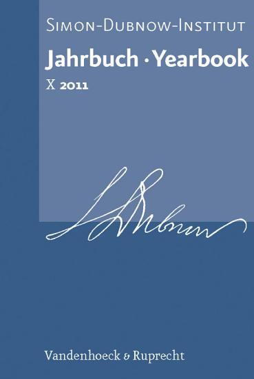 Jahrbuch des Simon Dubnow Instituts   Simon Dubnow Institute Yearbook X  2011  PDF