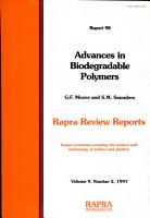 Advances in Biodegradable Polymers PDF