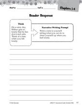 Charlotte's Web Reader Response Writing Prompts