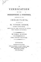 A vindication of the dissenters in Oxford ... in reply to dr. Tatham's sermon [A sermon suitable to the times].