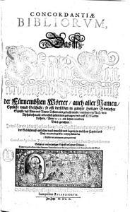 Concordantiae Bibliorum0 PDF