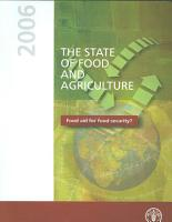 The State of Food and Agriculture  2006 PDF
