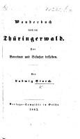 Wanderbuch durch den Th  ringerwald  etc PDF