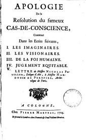 Apologie de la resolution du fameux cas-de-conscience