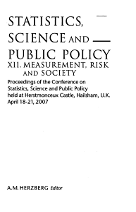 Statistics  Science and Public Policy XII PDF