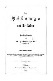 Die Pflanze und ihr Leben. Populäre Vorträge. Fünfte verbesserte Auflage. Mit ... Kupfertafeln