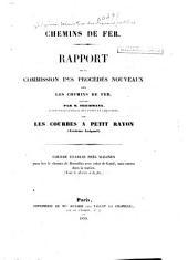 Chemins de fer: rapport de la Commission des procédés nouveaux pour les chemins de fer
