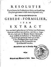 Resolutie vande Staten des vorstendoms Gelre, en graefschap Zutphen, ..