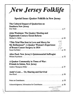 New Jersey Folklife PDF