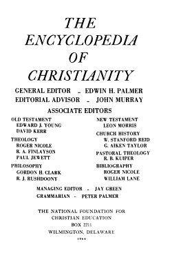 The Encyclopedia of Christianity PDF