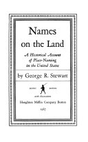 Download Names on the Land Book