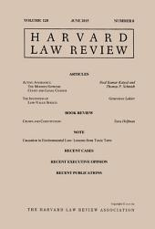 Harvard Law Review: Volume 128, Number 8 - June 2015