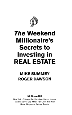 The Weekend Millionaire s Secrets to Investing in Real Estate  How to Become Wealthy in Your Spare Time PDF